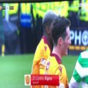 Motherwell 0-0 Celtic : Kipre controversial straight red card 41'