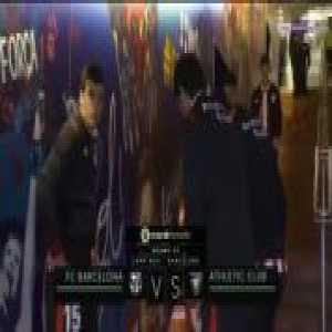 Coutinho hitting the crossbar vs. Athletic Bilbao