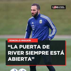 """Higuain on his future: """"The door to River is always open."""""""