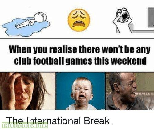 Unless you're an Arsenal fan in which case you're in paradise.