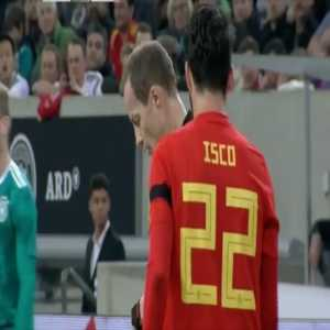 Isco vs. Germany. The midfielder showed us once again why he's so important to Spain for the World Cup.