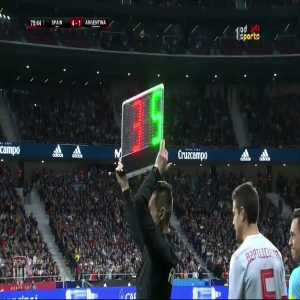 Spanish Fans giving Pique a standing ovation.
