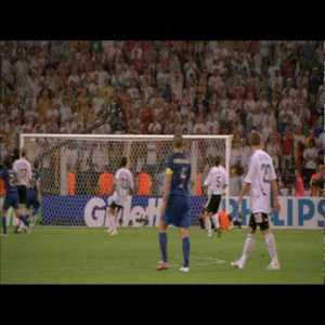 Grosso GW Goal for Italy v Germany in '06 WC Semi (Special Angle; Watch Totti) - [01:12]