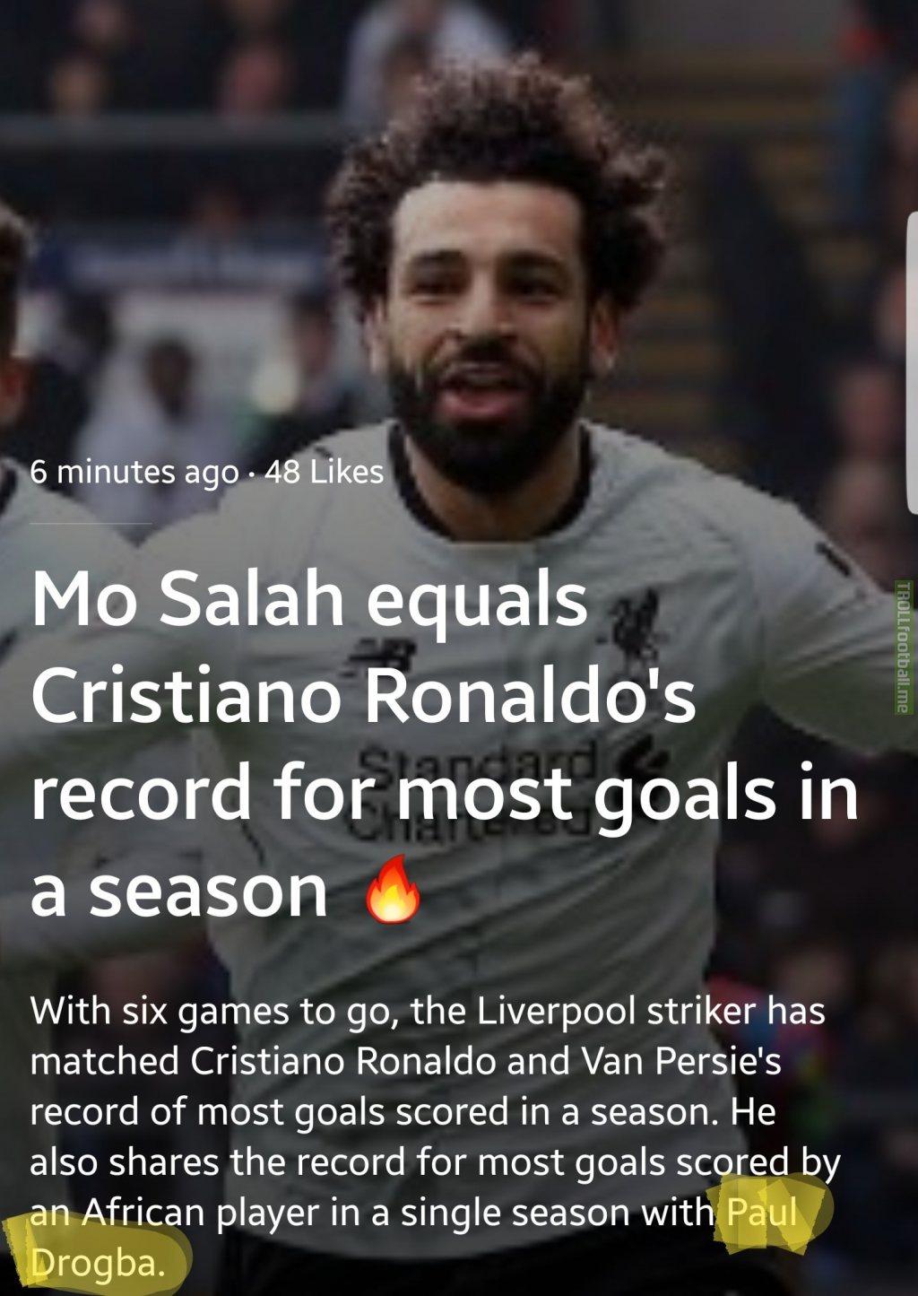 Fair play to Salah, Paul Drogba was a legend
