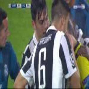 Paulo Dybala second yellow card against Real Madrid