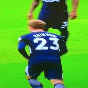 "Fans angle of Harry 'I swear on my daughter's life I touched it' Kane's ""goal"""