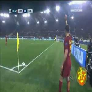 Legendary Roma commentator Carlo Zampa's commentary on Manloas's winning goal