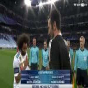 Marcelo pays respect to Buffon
