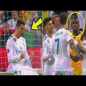 Ronaldo and Matuidi argue after the final whistle