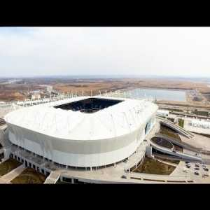 Tour around the new Rostov Arena. It is scheduled to host 5 World Cup matches.