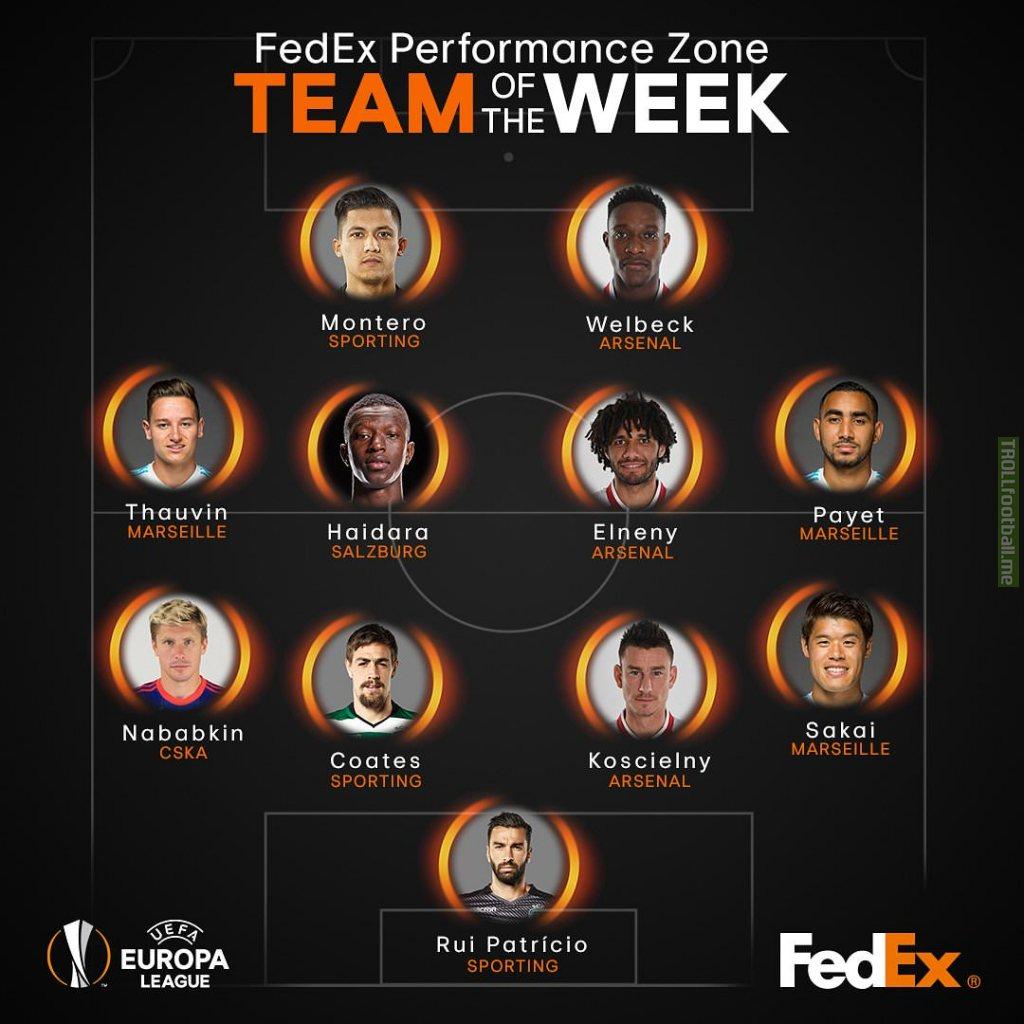 Europa League quarter-finals team of the week