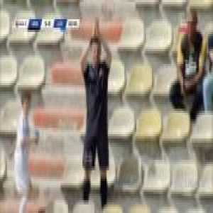 FC Hermannstadt player scores and then runs in the spectators stands and applauds himself / Romania Liga2
