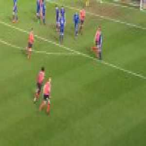 Luton's Pelly-Ruddock Mpanzu with a great strike against Crewe Alexandra today