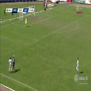Romanian 2nd Div. player scores, then runs to the stands to applaud himself