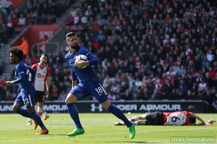 Super sub Olivier Giroud strikes twice as Chelsea Football Club come back from two goals down to beat Southampton 3-2 👏