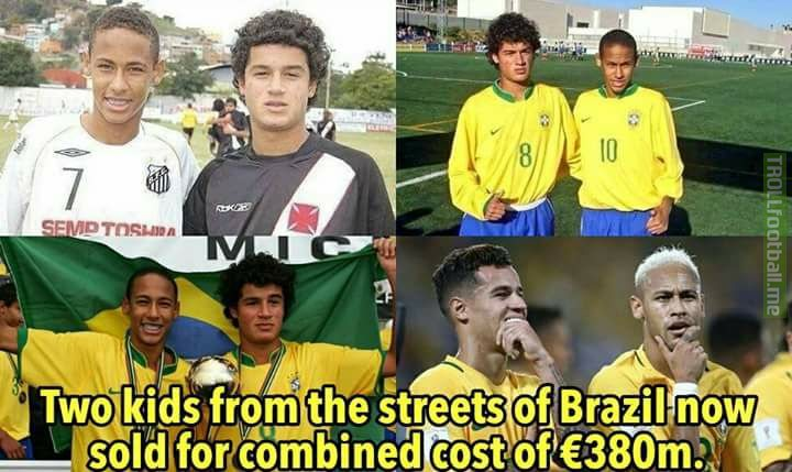 Coutinho and Neymar ! Frank