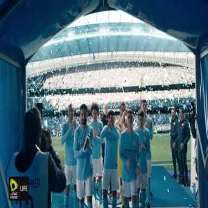 So a sponsor of Man City made a celebratory video for their title win, and it's... weird.