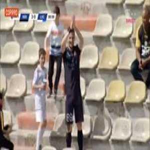 FC Hermannstadt's Stefan Blanaru scores then nails his celebration