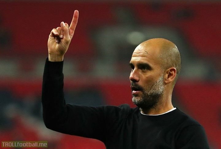 History maker: Pep Guardiola is the first bald manager to win the Premier League.  What a hero. Hopefully this opens the gate for many more men of lesser hair to someday take control of a £500m squad and win the title.
