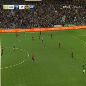 Imad Khalili (Hammarby IF) goal against Brommapojkarna. Swedish Allsvenskan, 2018-04-17