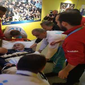 Besiktas manager Senol Günes has taken to the hospital
