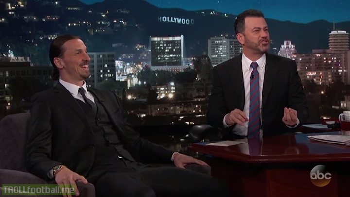 """Zlatan Ibrahimovic on Jimmy Kimmel: """"I'm going to the World Cup. If I say more, people will hang me but a World Cup without me wouldn't be a World Cup."""""""