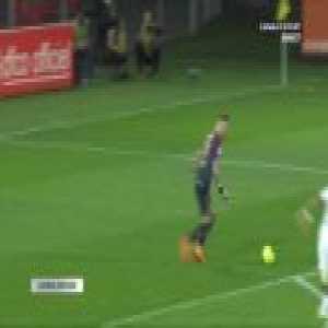 Baptiste Reynet (GK of Dijon) skill on Memphis Depay