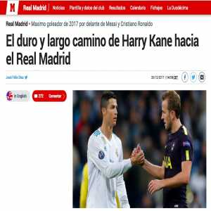 In the weeks before their games against them, Marca claimed Kane and Neymar were attempting to force moves to Madrid. Now with the Bayern game ahead Marca claims Lewandowski is days away from negotiating a move to RM.