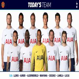 Lloris is dropped for the FA Cup Semi Final vs Man United; Alderweireld is the bench