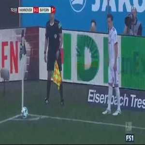 Robert Lewandowski Goal - Hannovre 0 vs 2 Bayern Munich