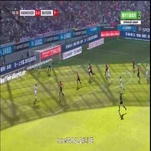 Thomas Müller Goal - Hannovre 0 vs 1 Bayern Munich