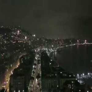 Amazing scenes right now in Naples, as Napoli fans erupt the whole city skyline with fireworks (Video)