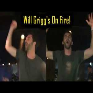 Will Grigg out on the town after yesterday's promotion