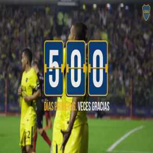 Boca Juniors has been at the top of the argentinian league for 500 days.