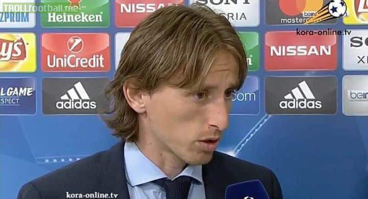 "Reporter: ""Müller said to us that he doesn't know how Real Madrid won.""  Modric: ""Tell him that it is simple. We scored 2 goals and they only scored 1.""  APPLY ICE TO THAT BURN."