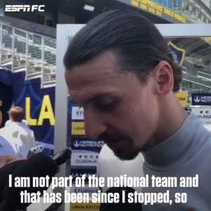 """Zlatan Ibrahimovic:""""I think Sweden is the favorite to win the World Cup because they are better without Zlatan."""""""