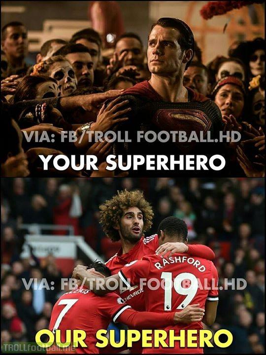 Lord Fellaini 'Our Superhero'!😎🔥