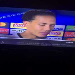 """Interviewer: """"Roma could have had two penalties."""" Van Dijk: """"Who cares"""""""