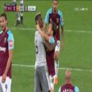 Tempers flare between Mark Noble and Paul Pogba