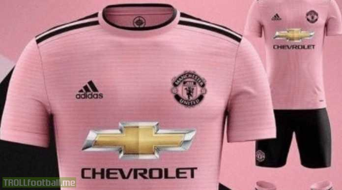 Man Utd's new kit for next season. They are really trying everything to get Paul Pogba back to his best 😂😂