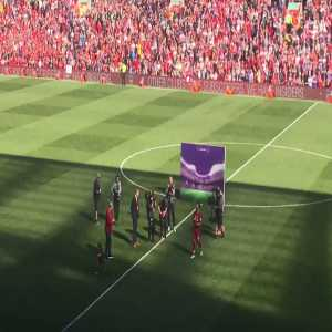 Salah's Daughter Being Cheered on by Anfield Crowd