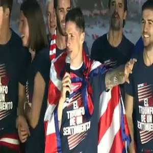 Fernando Torres could not avoid the tears in the celebration of Atlético de Madrid