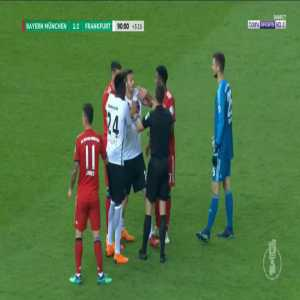 Bayern penalty shout in injury time against Frankfurt
