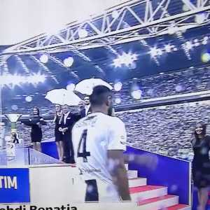Benatia gets humiliated during the Serie A winners ceremony.