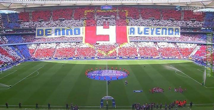 Atletico Madrid had a special sendoff for Fernando Torres...