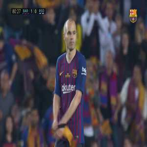 Andres Iniesta subs off at 80'
