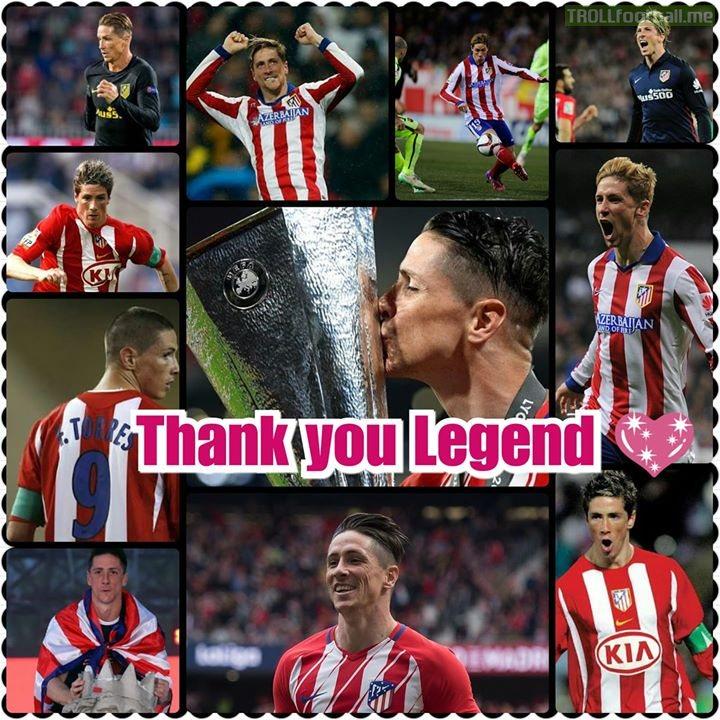 Thank you Fernando Torres 💗 Torres is Atletico Madrid   elnino