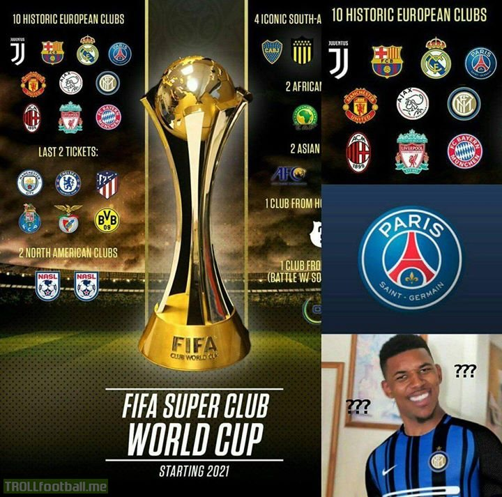 How does a club like PSG compare to Inter historically. Mind explaining this crap new league, FIFA?