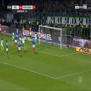 Kiel 0-1 Wolfsburg [1-4 on agg.] - Robin Knoche