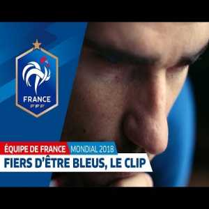"The French federation has released a very dramatic clip about the NT, with special featuring of the very rare ""Pogba with white & blue hair"""